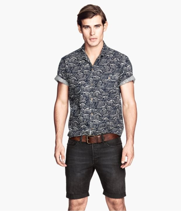 Koszulka z kolekcji H&M. Cena: 79,90 zł, moda męska, koszulki, h&m