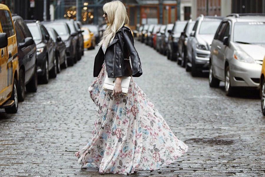 długa sukienka na jesień
