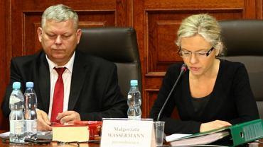 Marek Suski i Małgorzata Wassermann w czasie przesłuchania Marcina P.