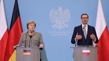 Kanclerz Niemiec Angela Merkel i premier Mateusz Morawiecki
