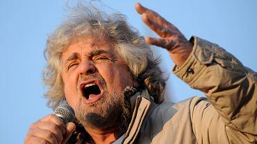 Komika Beppe Grillo jest założycielem Ruchu Pięciu Gwiazd