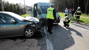 Kwiecień 2016. Wypadek w Zagnańsku