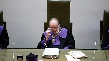 Sędzia Sądu Najwyższego Józef Iwulski podczas rozprawy dotyczącej tzw. ustawy 'dezubekizacyjnej', 16 września 2020.