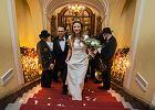 Ślub hrabianki w zamku Książ. Carolin Aleksandra von Hochberg wyszła za mąż w dawnej posiadłości rodu