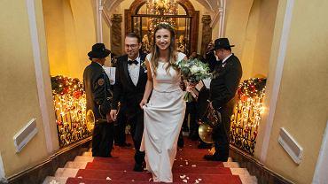 Ślub Carolin Alexandry von Hochberg i Jaspera Schulza w zamku Książ w Wałbrzychu, 01.12.2018 r.