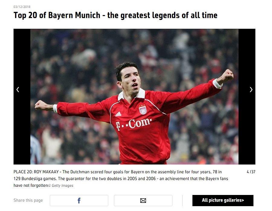 Robert Lewandowski nie znalazł się w rankingu najlepszych piłkarzy w historii Bayernu Monachium