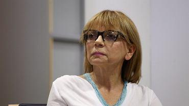 """Studio """"Wyborczej"""" podczas debaty Beata Szydło - Ewa Kopacz. Prof. Ewa Marciniak"""
