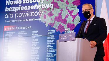 15.10.2020, konferencja prasowa ministra zdrowia Adama Niedzielskiego