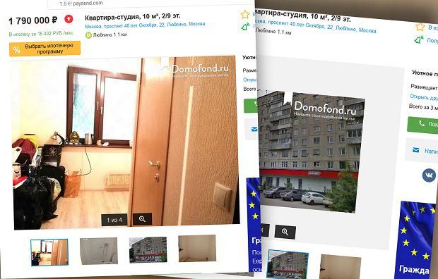 10-metrowe mieszkanie w jednym z rosyjskich portali