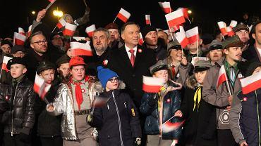 Narodowe Święto Niepodległości. Prezydent Andrzej Duda spotkał się z mieszkańcami Rypina