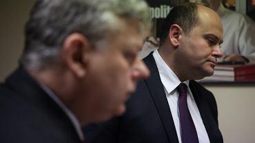 Andrzej Kosztowniak ( z prawej ) oraz Marek Suski
