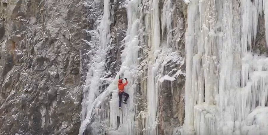 W Kielcach w Kadzielni po raz kolejny postał lodospad. Jedyny taki w całej Polsce