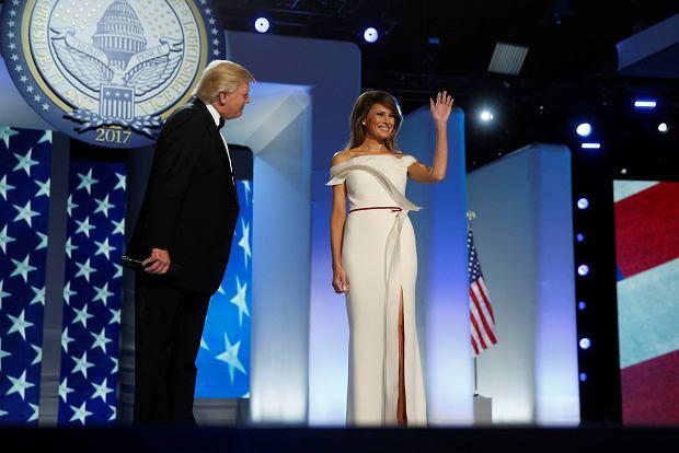 Donald Trump z żoną Melanią Balu Inauguracyjnym