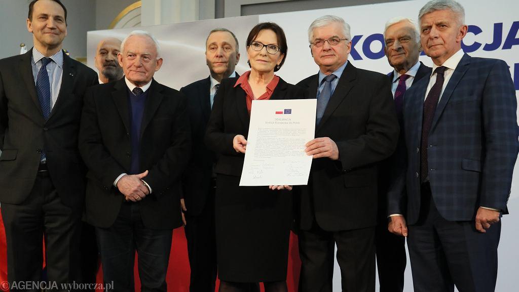 Podpisanie deklaracji Koalicji Europejskiej dla Polski