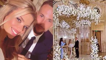 Tomasz Kędziora wziął ślub z ukraińską modelką. W sali złota zastawa i diamentowe żyrandole. Przepych bije po oczach