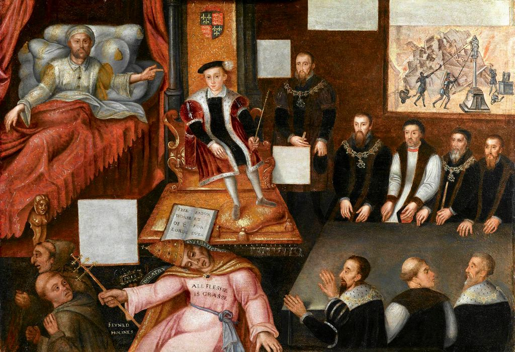 / King Edward VI and the Pope, around 1575  National Portrait Gallery, London