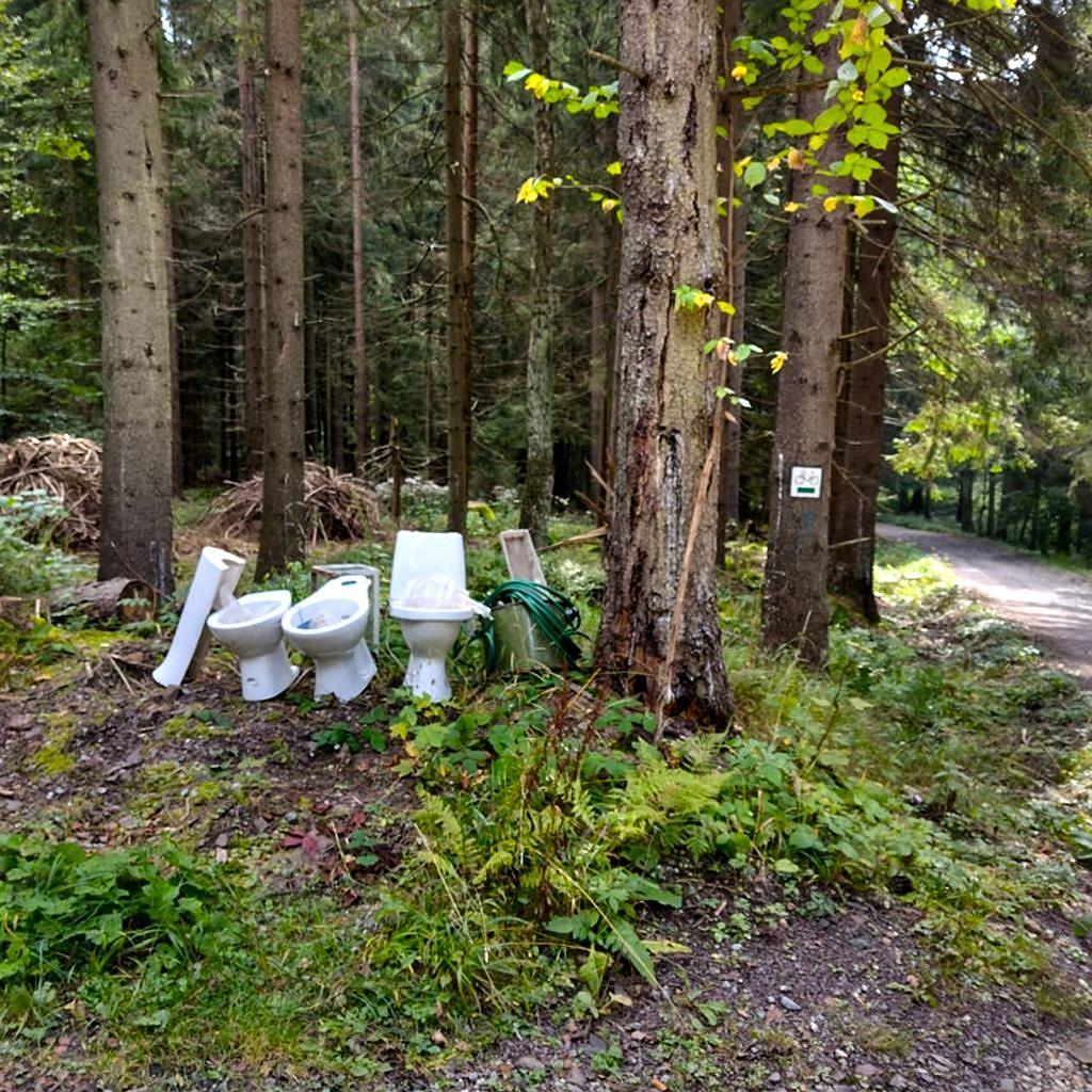 Ktoś wywiózł do Parku Narodowego Gór Stołowych muszle klozetowe