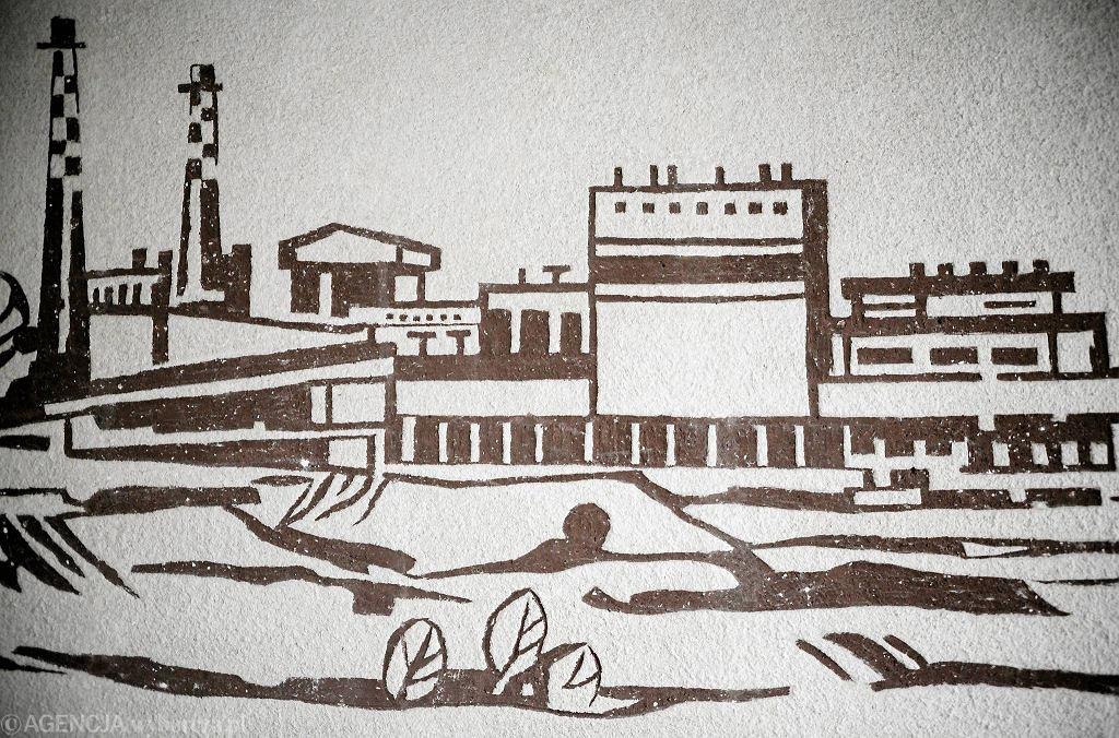 Sgraffito w budynku Michelin (dawny OZOS ), wykonany przez Mirosława Smerka
