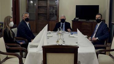 Jarosław Kaczyński, Viktor Orban i Mateusz Morawiecki