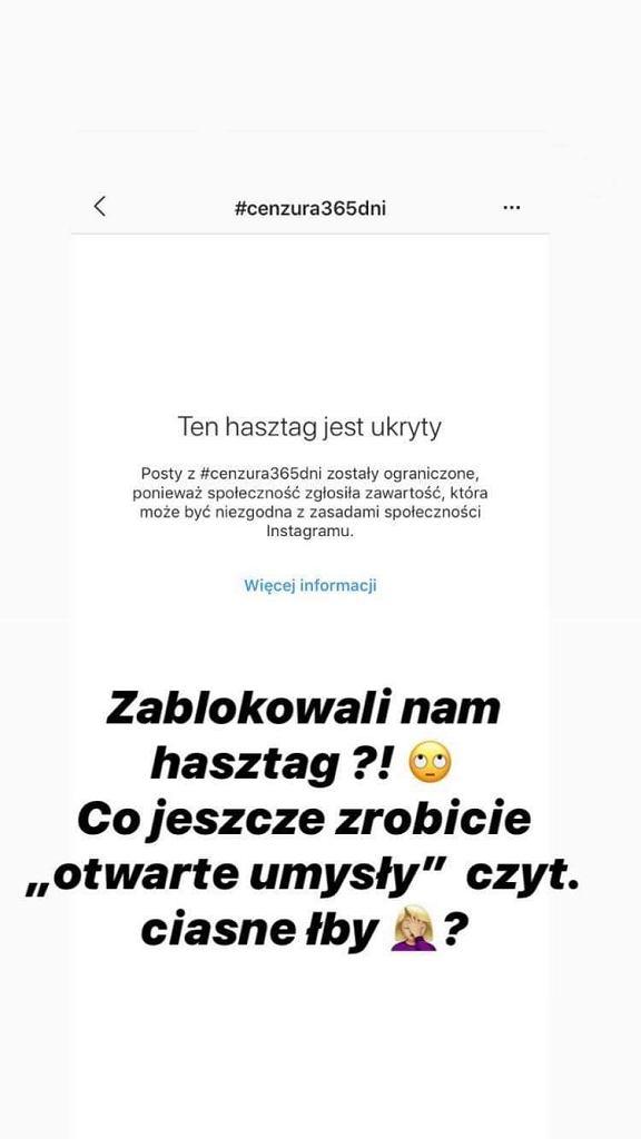 Blanka Lipińska o cenzurze