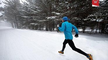 Bieg zimą