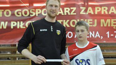 Jakub Jarosz promujący Mini Mistrzostwa Świata dla gimnazjalistów