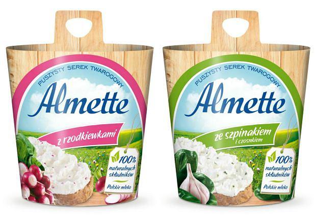 Nowe wyjątkowe smaki - Almette z rzodkiewkami oraz Almette ze szpinakiem i czosnkiem!