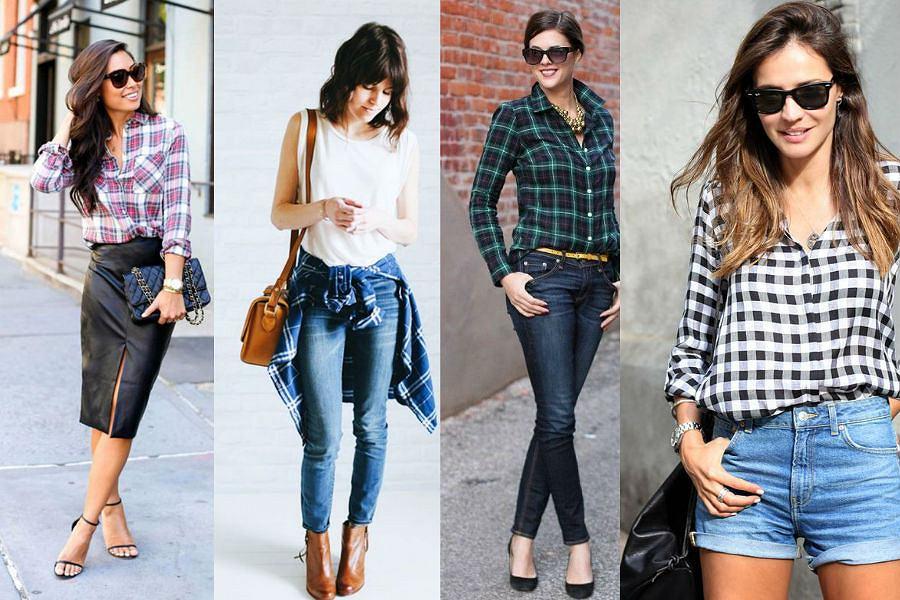 Koszula w kratę pasuje do wielu stylizacji