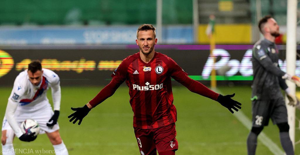 Tomas Pekhart w meczu Legia Warszawa - Raków Częstochowa