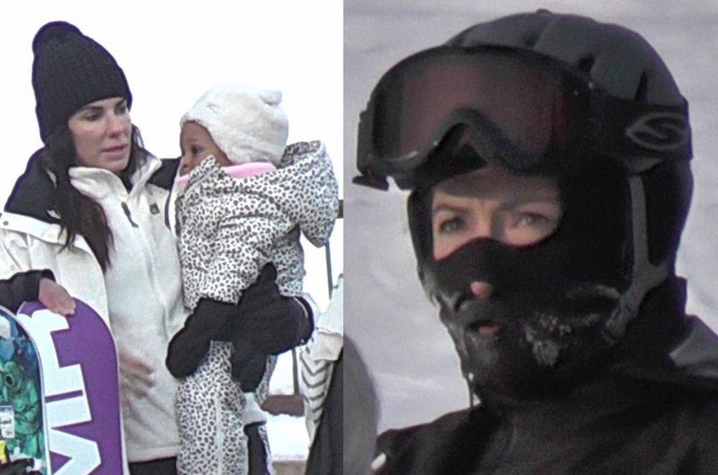 Sandra Bullock z córką Lailą, Jennifer Aniston