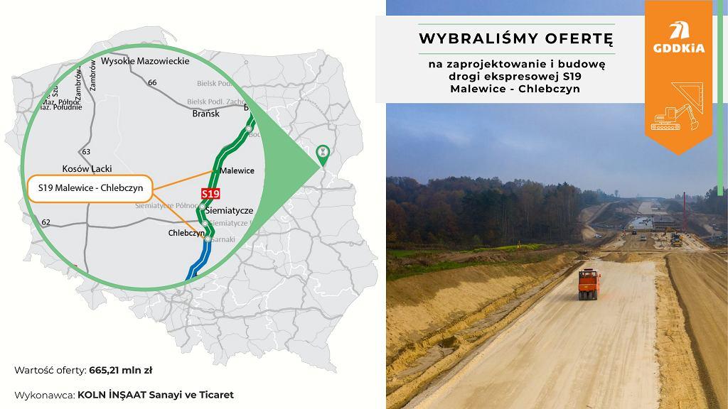 Via Carpatia S19 Malewice - Chlebczyn