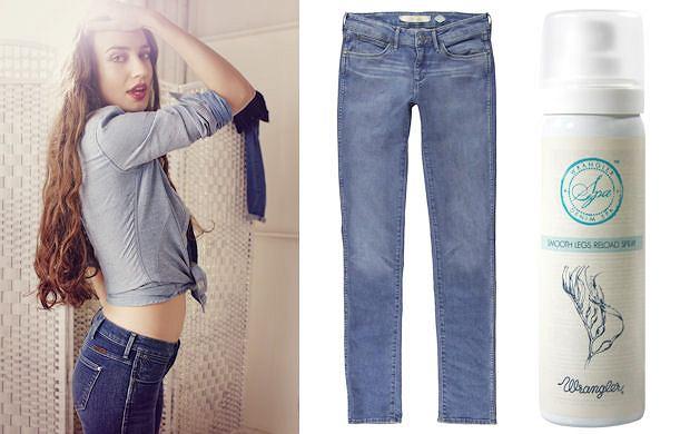 Wrangler - jeansy z efektem SPA