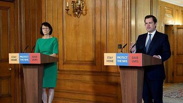 Wielka Brytania. Dr Jenny Harries i minister Robert Jenrick podczas konferencji na temat koronawirusa (zdjęcie ilustracyjne)