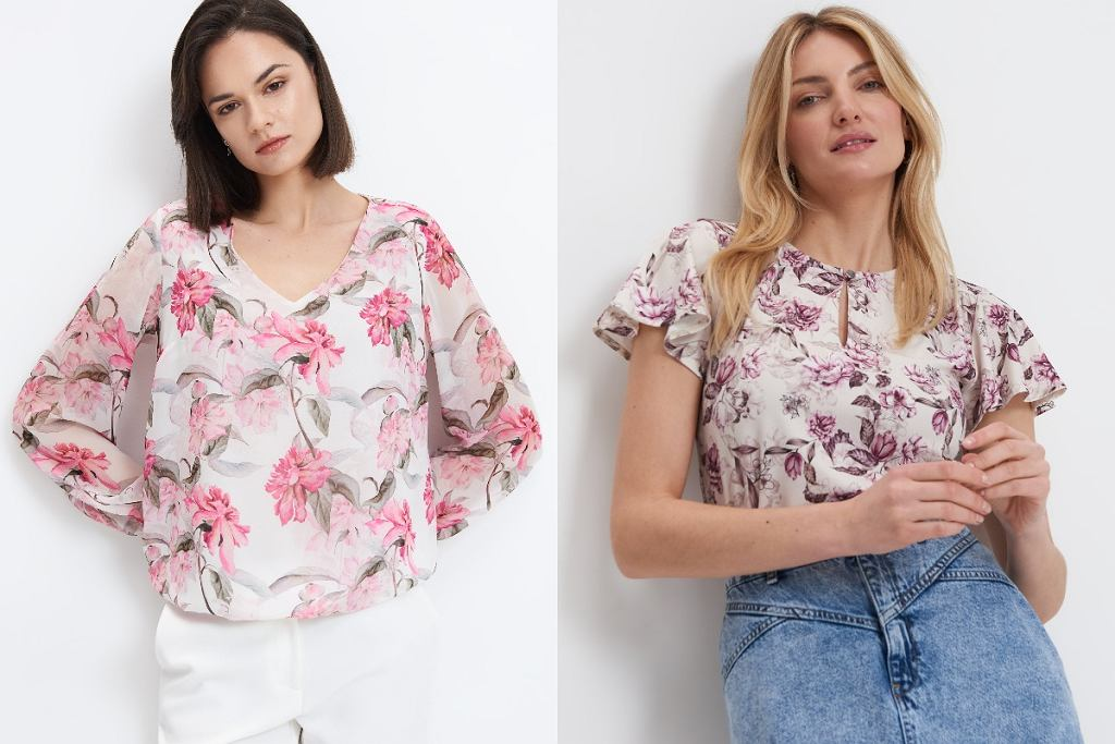 Bluzki w kwiaty
