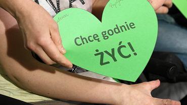 22. dzień protestu osób niepełnosprawnych i ich rodziców w Sejmie