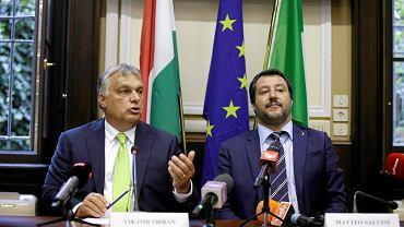 Matteo Salvini  i  Viktor Orban w Mediolanie
