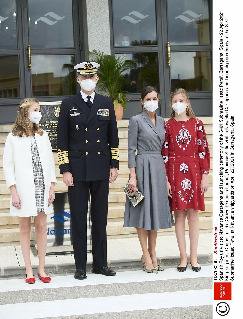 Rodzina królewska na ceremonii wodowania okrętu podwodnego