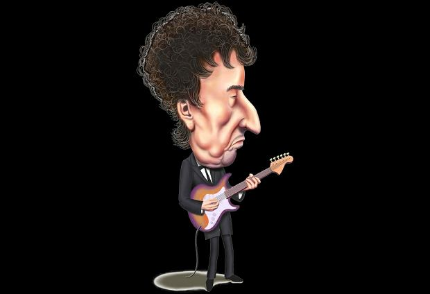 Karykatura Boba Dylana