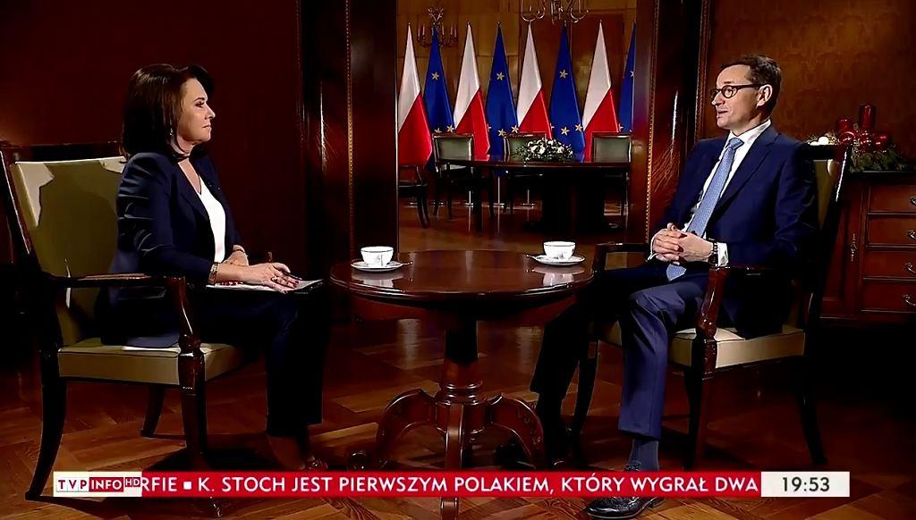 Mateusz Morawiecki w TVP