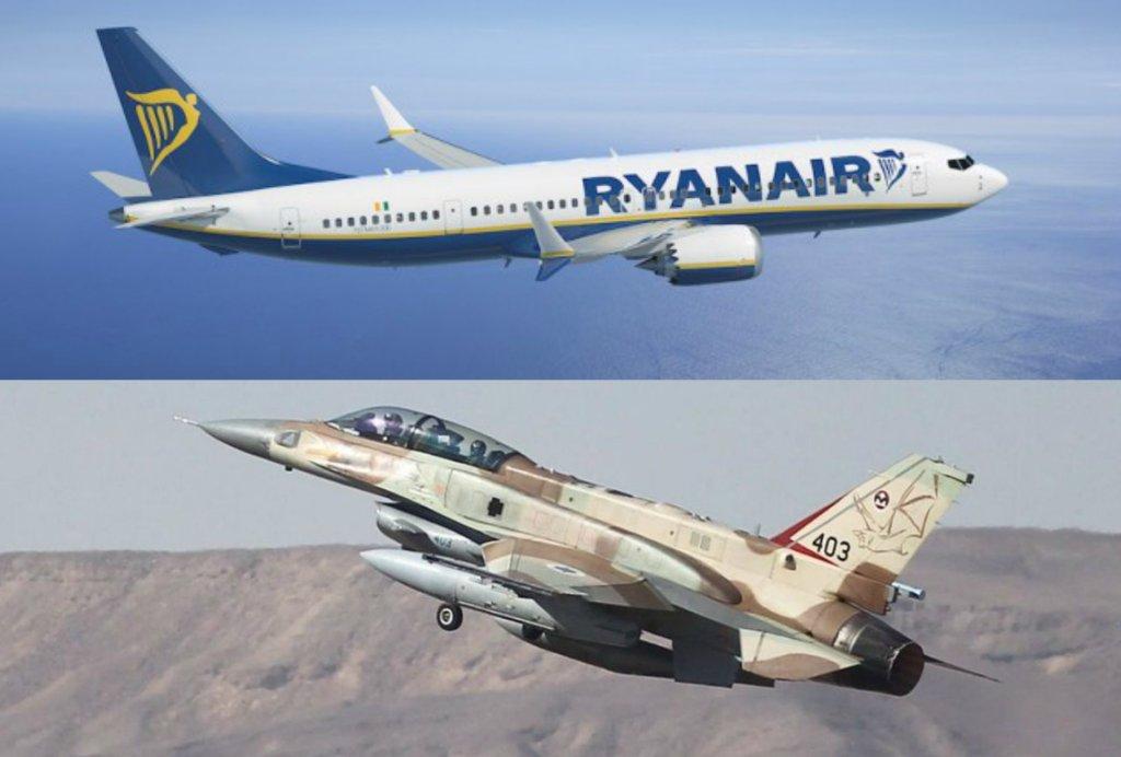Dwa izraelskie myśliwce omal nie zderzyły się z samolotem lecącym z Polski