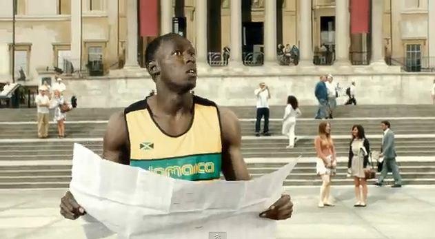 Usain Bolt w reklamie - biegnie przez Londyn