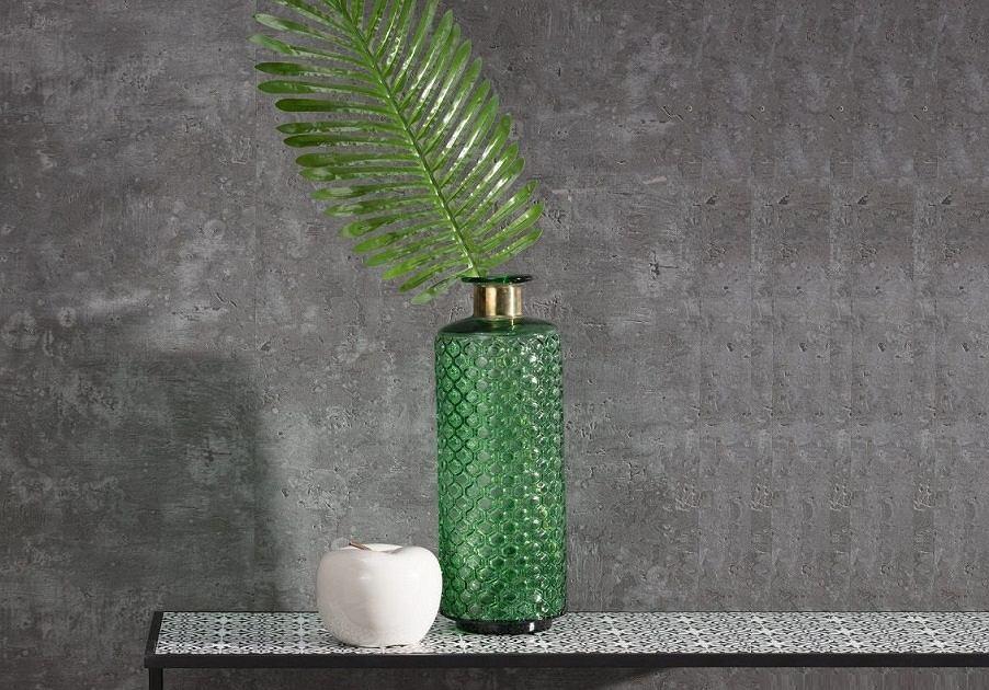 Dodatki do mieszkania w kolorze butelkowej zieleni.