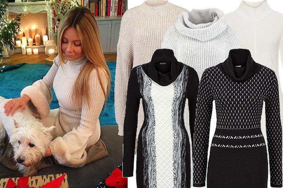 Kolaż, sweterkowa sukienka/Materiały partnera