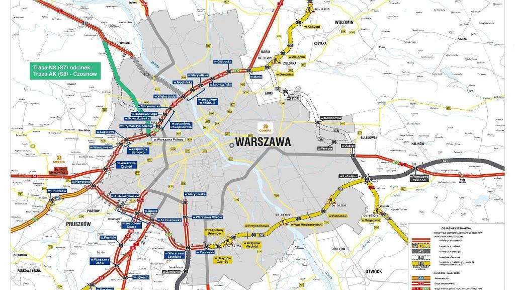 Utrudnienia w ruchu w Łomiankach
