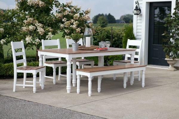 Drewno -materiał na meble ogrodowe