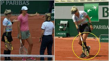 Polémica jugada de Bethany Mattek-Sands en los cuartos de final del partido de dobles con Ija Švetik