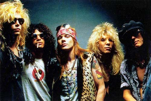 Oryginalny skład Guns N' Roses: Duff McKagan, Slash, Axl Rose, Steven Adler, Izzy Stradlin