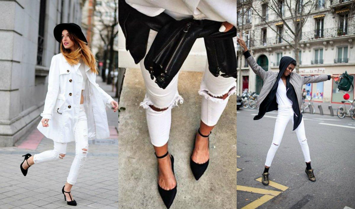 Sposób na białe spodnie podpowiadamy, z czym je nosić