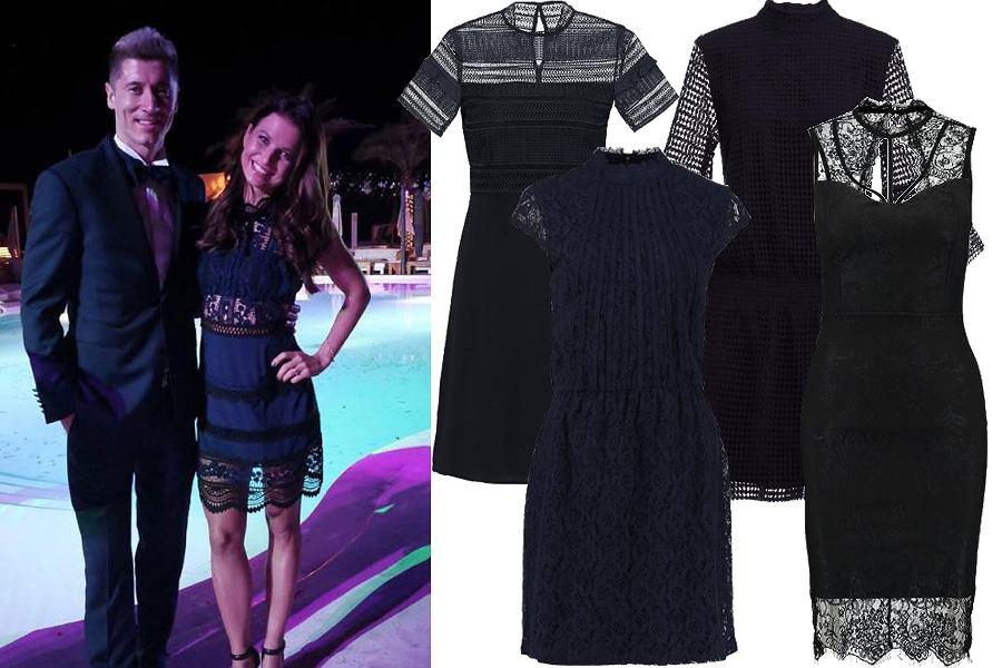 Kolaż, koronkowa sukienka/Materiały partnera
