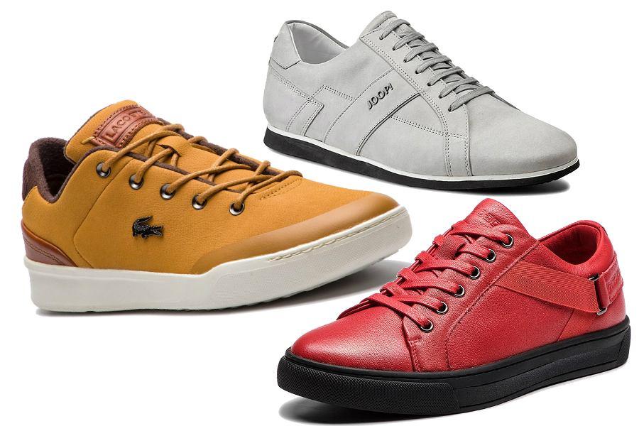 Skórzane sneakersy kolorowe